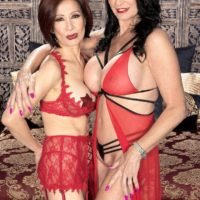 Sumptuous senior nymphs Rita Daniels and Kim Anh have a 3some with junior stud