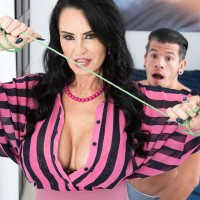 Over Sixty MILF Rita Daniels tempts her stepson and drains his dick after stripping him