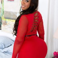 BBBW Layla Monroe has her massive backside unsheathed by her man friend