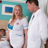 Light-haired nurse Cameron Skye gets caught delivering patient a hj by a medic