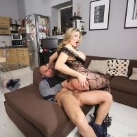 Buxom sandy-haired Vittoria Risi taking anal intrusion from monster-sized cock after bung crevice toying