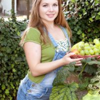 Nice nubile solo girl Alessandra Jane uncovering small melons outdoors