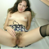Euro solo models flash off their hairy all-natural fuckboxes after panty removal