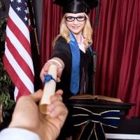 Glasses adorned platinum-blonde teener Aubrey Gold stripping down to brassiere and underwear