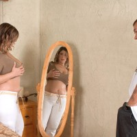 Tempting obese female Alix Lakehurst has her swell nips munched and breasts massaged as well