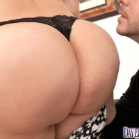 Latina chick Daylene Rio bares her big butt from a torn skirt