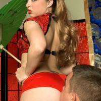 Latina MILF Tia Sweets parks her sumptuous bootie on a man's face in mesh tights