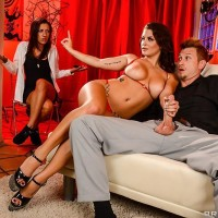 Latina XXX star Keisha Grey taking dark-skinned sphincter sex in high heels while mistress witnesses