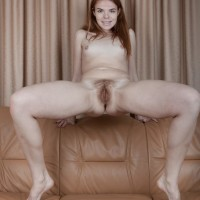 Tall European amateur Ogil Basted sliding off panties for cunt exposure