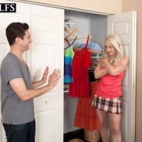 Mature ash-blonde doll Heidi deep-throats her stepson's huge cock after seducing him