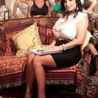 MILF XXX star Valory Irene and wives unveil giant hooters and bare backsides together