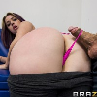 PLUS-SIZE ASSED WHITE FEMALE Sierra Sanders receiving chipmunking and derriere boinking from immense cock