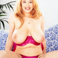 Enticing MILF Ruth Tyler puts her enormous titties on demonstrate in see thru pantyhose and high-heeled shoes