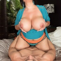 Fatty housewife Paige Turner tempts junior dude with enormous juggs to cuck hubby's dismay