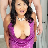 60 Plus Chinese MILF Mandy Thai wears no bra under her sundress while seducing a guy
