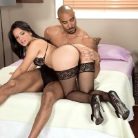 Wonderful MILF Cici Enjoy has her immense ass captured by her ebony lover in stockings and heels