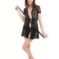 Solo model Adel Morel toys her trimmed cooch after getting rid of black lingerie