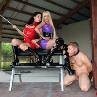 Wicked gals Kimmy and Alexia deliver COCK AND BALL TORMENT treatment to a nude masculine in lengthy boots