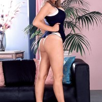 Filthy fair-haired MILF Kelly Kay demonstrates upskirt panties and her bum cheeks