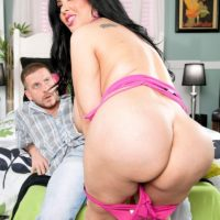 Latina chick Daylene Rio tempts a guy with her plus sized arse and massive boobies
