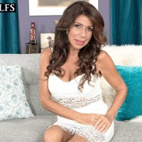 Elder brown-haired broad Layla LaMora having lingerie and undies unclothed off