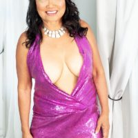Sixty Plus Asian MILF Mandy Thai wears no bra under her sundress while seducing a dude