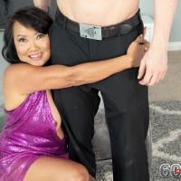 Sixty Plus Asian MILF Mandy Thai wears no bra under her sundress while seducing a dude