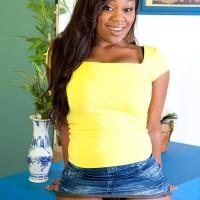 Black MILF Nina Rotti unsheathes her big ass while seducing her milky lover