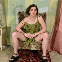 European first timer Gypsy flaunting pierced erect nipples, wooly pits and fur covered thicket