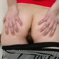 Euro amateur in braided ponytails vaunting tiny titties and wooly pussy