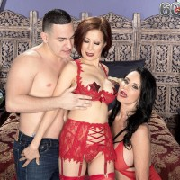 Sweet old ladies Rita Daniels and Kim Anh have a threesome with younger stud