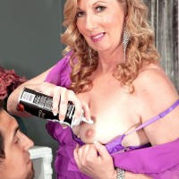 Over Fifty MILF Summer Sands having swell nipples blown neat of flog fluid