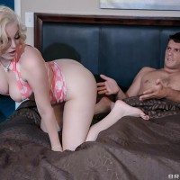 Mind-blowing golden-haired MILF Jenna Ivory taking it hard in the ass after delivering a fellatio