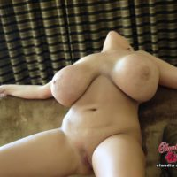 Expert platinum sandy-haired Claudia Marie wets her big boobies while taking a shower