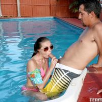 nubile X-rated actress Carolina Sweets participates in tough sex while in a swimming pool