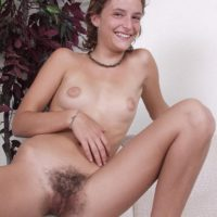 Amateur ladies take turn showing off their natural pussies during solo action