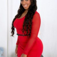 BBBW Layla Monroe has her hefty arse exposed by her man acquaintance