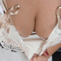 Black-haired first-timer Pavla squashes her all natural breasts before spreading her all-natural honeypot