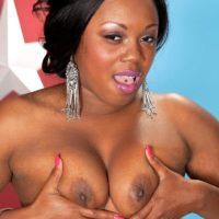 Chubby ebony first-timer Jayden Starr flaunting her gigantic black arse in g-string undies