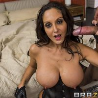 Black-haired girl Ava Addams boobs pulverizes and gargles a penis after a rock-hard anal boinking