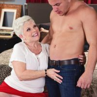 Insatiable MILF on the other side of Sixty Jewel tempts a younger stud before eating his penis