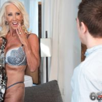 Seductive over 60 MILF Madison Milstar entices a junior guy in her boulder-holder and panties