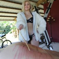 Isobel Raven and Rikki are joined by a masochistic solo girl to torment a lone man slave
