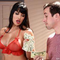 Latina MILF porno starlet Mercedes Carrera bangs a younger boy for money