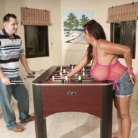 Latina MILF Vanessa Del works on seducing a boy with her enormous boobs