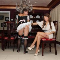 Long-legged mistress Alison Starlet has her muff ate out by a cuckold while getting nailed doggy style