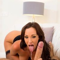 MILF adult film starlet Jada Stevens getting booty nailed by big cock after giving fellatio