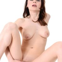 Natural redhead Victoria Travel masturbates with a sex toy after getting butt naked by herself