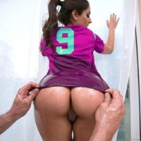PLUS SIZE ARSED MILKY GIRL Jynx Labyrinth takes a enormous penis up her ass-hole during a football and pizza soiree