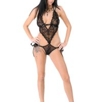Uber-sexy female Foxxi Black removes voluptuous lingerie before toying her cooch